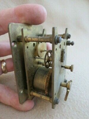 Small Vintage Davall 8 Day Clock Movement For Spares Or Repair