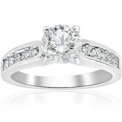 1 Ct Natural Diamond Solitaire Engagement Ring Band White Gold Round Brilliant