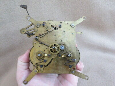 Vintage German Hac Striking Wall Clock Movement For Spares Or Repair