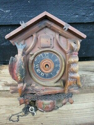 Antique Vintage Forestall Cuckoo Clock For Spares Or Repair