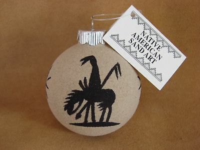 Native American Sandpainting Christmas Ornament! Handmade CO303