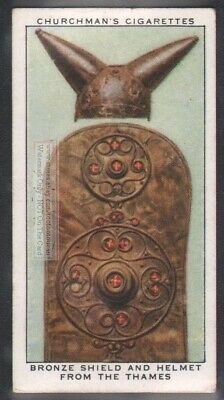 Bronze Shield And Helmet From The Thames Britain England  80 Y/O Trade Ad Card