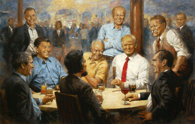 Andy Thomas Republican Club Artist's Proof Giclee on Canvas 30x20