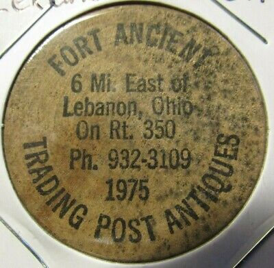 Vintage Fort Ancient Antiques Lebanon, OH Wooden Nickel - Token Ohio