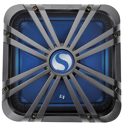 "Kicker 11L712GLC 12"" Charcoal Grille w/ LED For SoloBaric 11S12L7 Subwoofer Sub"