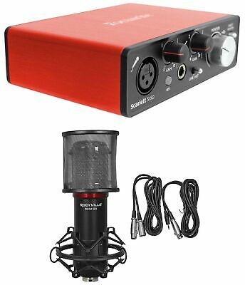 Focusrite SCARLETT SOLO 2nd Gen 192KHz USB 2.0 Audio Interface+Studio Microphone