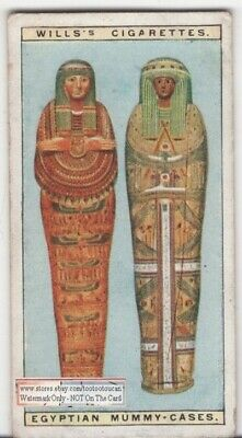 Ancient Egyptian Mummy Cases Pyramid Tomb 90+ Y/O Ad Trade Card