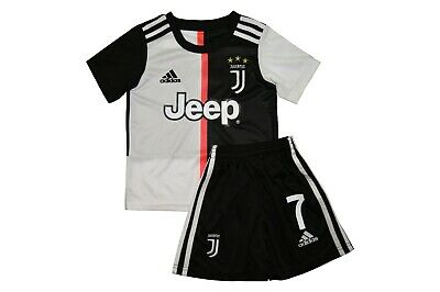 best service 76699 c6648 JUVENTUS RONALDO BLACK/WHITE Shirt And Shorts Kids Kit Bnwt 2019-2020 Uk  Stock