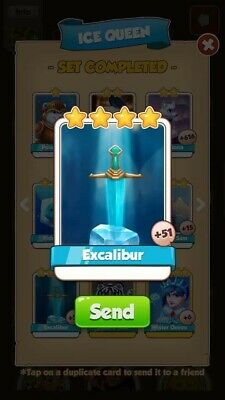Coin Master Excalibur Rare Card Fast Delivery (Read Desc)
