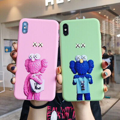 Solid Cartoon Kaws Sesame Street Phone Case Cover For iPhone6s 7 8Plus XR XsMax
