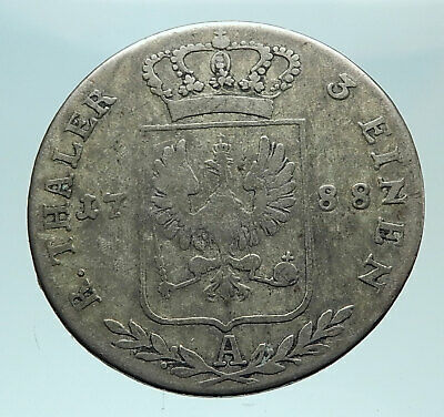 1788 PRUSSIA KINGDOM Germany FRIEDERICH II Silver 1/3 Thaler German Coin i79291
