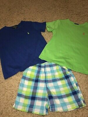 Euc polo Ralph Lauren size 3t lot blue and green