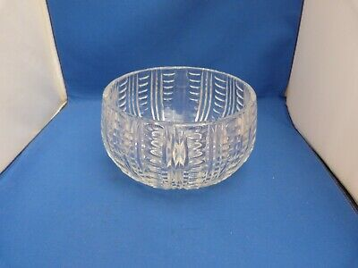 Collectable Small Clear Glass Round Heavy Fruit Bowl Dish H10.5cm W8cm