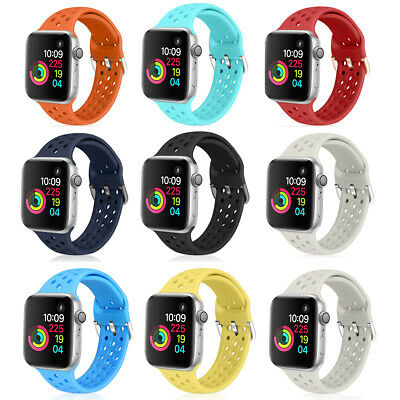 38/42/40/44mm Silicone Sport Band Strap for Apple Watch iWatch Series  4/3/2/1
