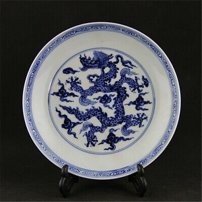 Chinese ancient antique hand make Dragon pattern porcelain plate