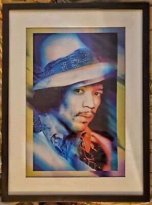 Jimi Hendrix SIGNED Gered Mankowitz Lenticular COLOR PHOTO RARE MUSEUM PIECE