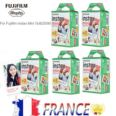 20-200PCS Fuji Instax Mini Film Photo pour Fujifilm Mini 8 9 25 50 90 70 7s FR