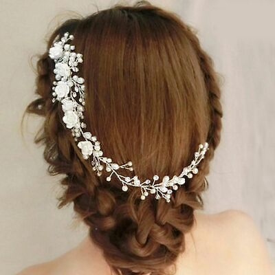 Flower Wedding Hair Pin Comb Bridal Clips Crystal Pearl Diamante Accessories