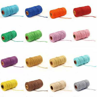 21 Colors 2mm Cotton Cords Twine String Christmas DIY Rope Home Decor