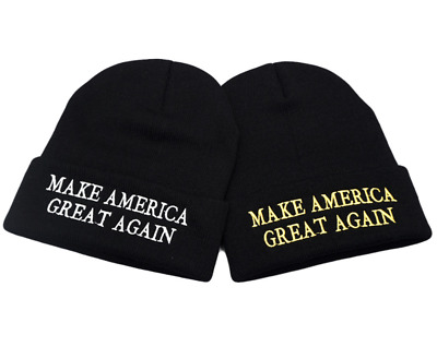 Beanie Cap Make America Great Again Winter Hat Embroidery Men's Knitted Skullies