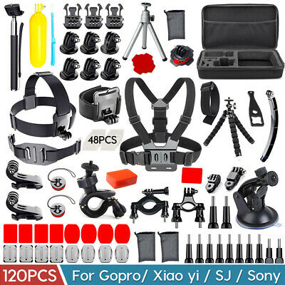 120X GoPro Accessories Set Hero7 5 Black 6 4 3 HD Action Camera Sport Kit Bundle