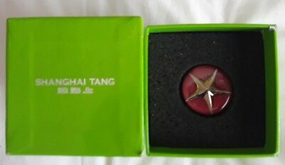 NEW Shanghai Tang Chinese Silver Plated Pink Top Star Wine Stopper Saver