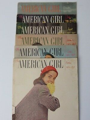 Vintage 1951 American Girl Magazines Lot of 6  #9630