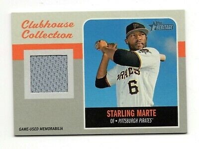 Starling Marte Mlb 2019 Topps Heritage Clubhouse Collection Relics (Pirates)