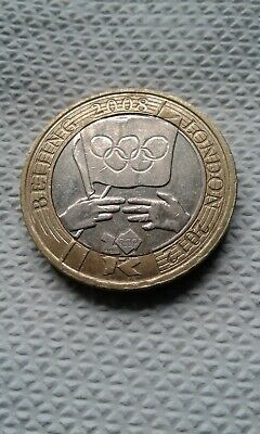 RARE £2 Two pound coin Beijing 2008 to London 2012 Olympic handover. Circulated