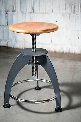Vintage swivel stool. Style: piano chair - Premium Luxury