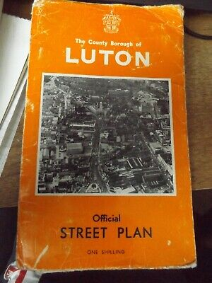 The County Borogh Of Luton Official Street Plan 1965 Paperback