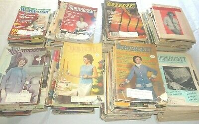 Lot of 26 Vintage WORKBASKET Magazine 1950's Recipes Crochet Knit crafts