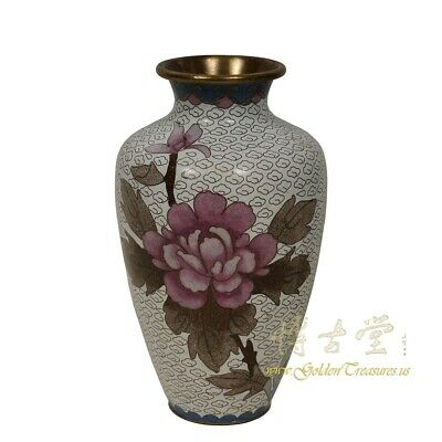 Vintage Hand Made Chinese Cloisonne Vase