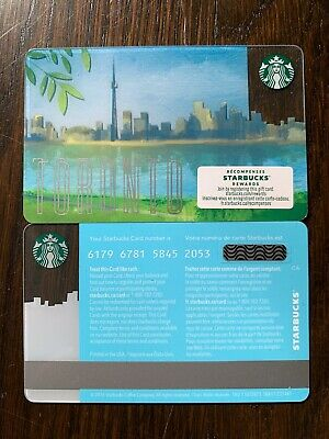 STARBUCKS 2017 TORONTO CANADA - #6179 - Gift Card - New - No Value