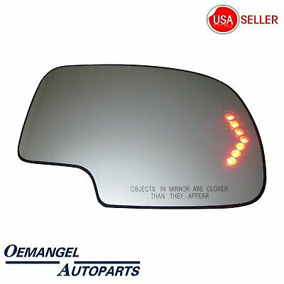 For 2003-2007 Chevy GMC Cadillac Mirror Glass Heated Turn Signal Passenger Side