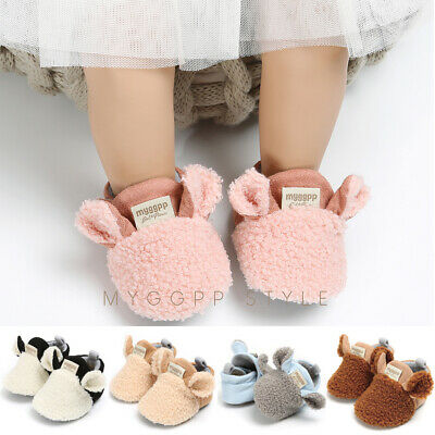 Baby Boy Girl Infant Newborn Cute Lamb Slippers Prewalker Trainers CrawlingShoes