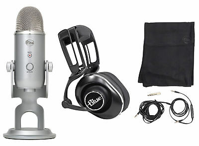 Blue Gaming Streaming Twitch Bundle w/ Yeti Microphone+Lola Headphones+Stand