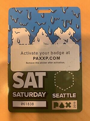 Pax West Prime Badge 2019 Saturday