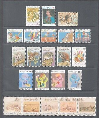 Australia 1990  Mint unhinged  Year collection 52  stamps + 2 mini sheets