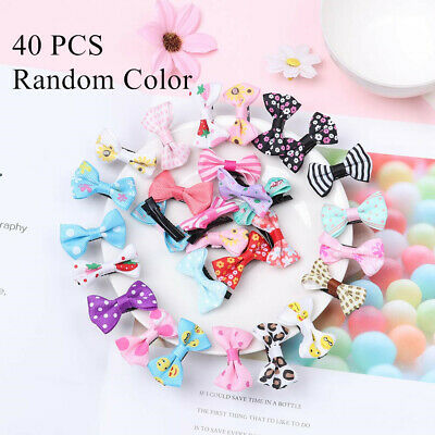 Cute 40 x Baby Girl's Kid's Flower Hair Clip Bow Hairpin Alligator Clips New