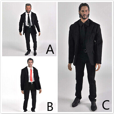 "1//6 Scale Male Suit Black for 12/"" Male Figure Hot Toys"