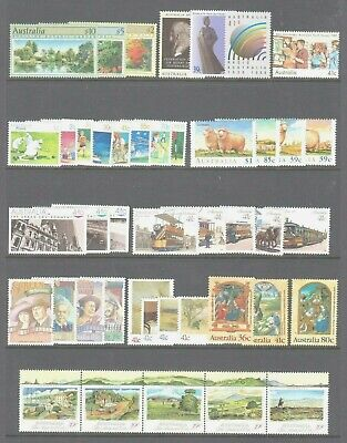 Australia 1989 Mint unhinged  Year collection 43 stamps.** Value **.