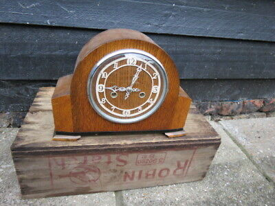 Vintage Smiths Enfield 8 Day String Mantel Clock For Tlc