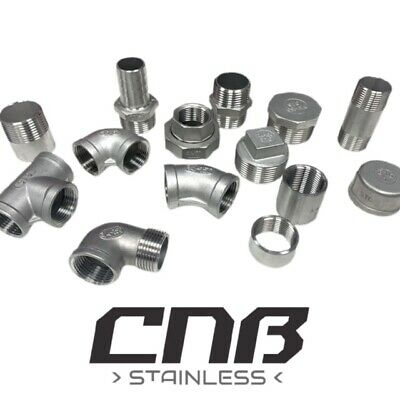 "BSP Pipe Fittings Stainless Steel 316 A4 Grade 150lb  1/8"" To 4""  Free Delivery."