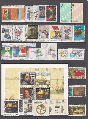 Australia 1985  Year collection 41 Mint unhinged stamps.+ mini sheet.**VALUE**
