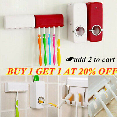 Device Automatic Toothpaste Squeezer Dispenser Toothbrush Holder Extrusion Set