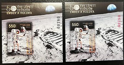 Specials - Hungary 2019. Space - member on the Moon sheet PERF + IMPERF MNH (**)