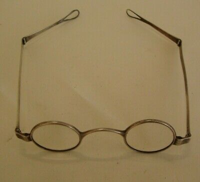 English hallmarked Georgian solid silver framed spectacles