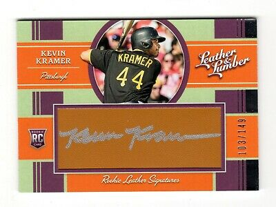 Kevin Kramer Mlb 2019 Panini Leather And Lumber Auto Rc (Pittsburgh Pirates)