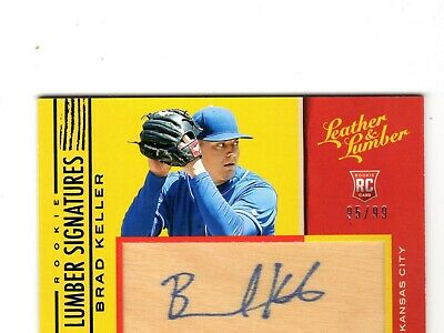 Brad Keller Mlb 2019 Leather And Lumber Rookie Lumber Signatures Blue (Royals)